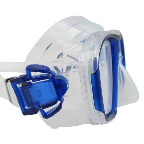 Scuba Choice Blue Diving Dive Snorkel Mask Nearsighted Prescription RX Optical Corrective Lenses, -6.0