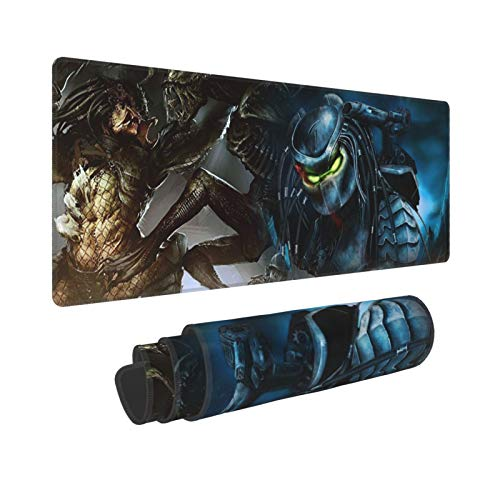 Gaming Mouse Pad Alien Vs Predator Customized Mousepad Super Soft Large Rubber Base for Home Non-Slip Mouse Mat Pad for Girls