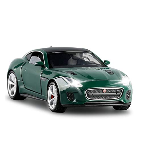 ZCLY 1/32 para Jaguar F-Type Coche Deportivo Modelo De Juguete Simulación Sonido Luz Pull Back Aleación Die Cast Juguetes Vehículo para Niños Niñas Modelo de Auto (Color : 2)