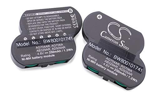 vhbw Batterie Ni-MH 250 mAh 4.8V pour COMPAQ Smart, remplace Les modèles 120978-001, 401026-001, 295643-291, 470013-035, 470013-038