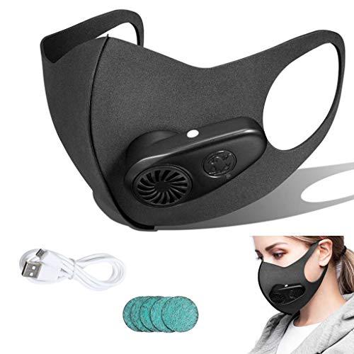 YA Filtros de Cara de Polvo Carbón Activado, USB Protección de Cara...