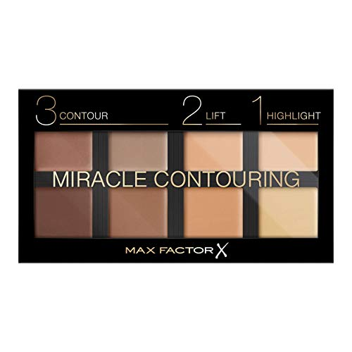 Max Factor Miracle Contouring Palette Universal 10 – Contouring und Highlighter Palette in einem – Für die perfekte Gesichts-Kontur – 1 x 30 g
