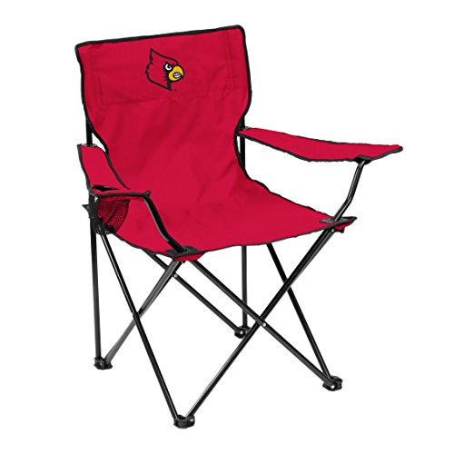 Logo Brands NCAA Louisville Cardinals Unisex Adult Quad Chair with Single Cup Holder, Red, One Size