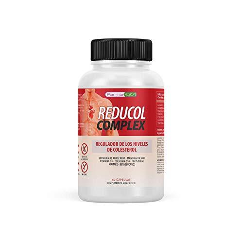 Reductor del Colesterol | Reduce y Mantiene en niveles sanos tu Colesterol | Levadura de Arroz rojo + Coenzima Q10 + Resveratrol + Mango Africano + Vitamina D | Fórmula Natural 100% eficaz | 60 Caps.
