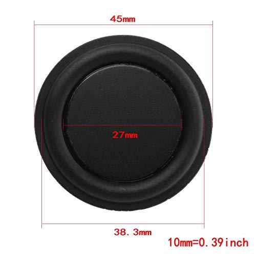 Ogquaton Lautsprechermembran, Lautsprecher Vibration Membran Bass Rubber Woofer, 45mm Passive Radiator Subwoofer Lautsprecherzubehör Premium Qualität