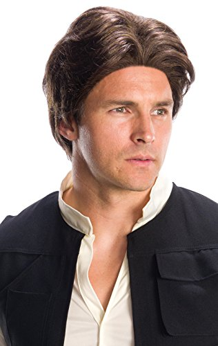 Rubie's adult Star Wars Han Solo Costume Wig, Brown, One Size US