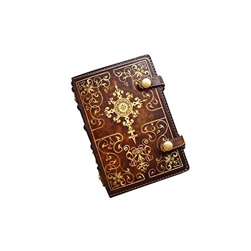 ZHIHUI Libretas En Relieve Diario de Cuero Recargables Premium Notebook Espiral Retro Cuadernos for niñas y niños Bloc de Notas Libro de visitas Diarios (tamaño : A6)