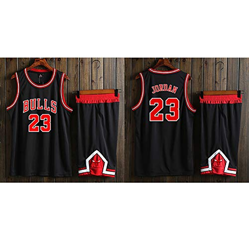 Heren Basketball JerseysBasketball uniform, heren trainingspak, BULLS 23# Michael Jordan basketbal vest, top/korte pak, ademend en hydraterend, sneldrogende stof.