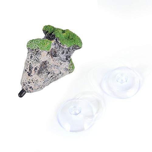 Tbest Aquarium Schwimmende Steine Felsen Aquarium Floating Rock, Foating Kunststein Rock Aquarium Aquarium Floating Rocks Ornament Landschaft Moss Flying Suspended Stein Dekoration(M)