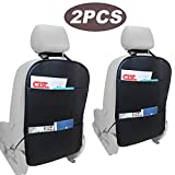 DEFENNA Car Seat Back Organizer 2 Pack, Waterproof Leather Seat Cover for The
