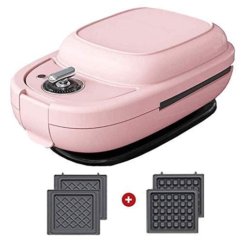 Mini wafelijzer, non-stick Classic American Waffler Strijkijzer, verstelbare Browning Control, Dubbelzijdig Verwarming, Timing functie, geschikt for wafels, Donuts, Sandwiches, Etc.