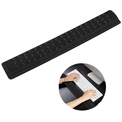Powcan Memory Foam Toetsenbord Polssteun Ergonomisch ontwerp voor Office Home Laptop Computer PC Gaming - Ontwerp met massagegaten - Eenvoudig typen Pols Pijnstilling, 36cm, Zwart