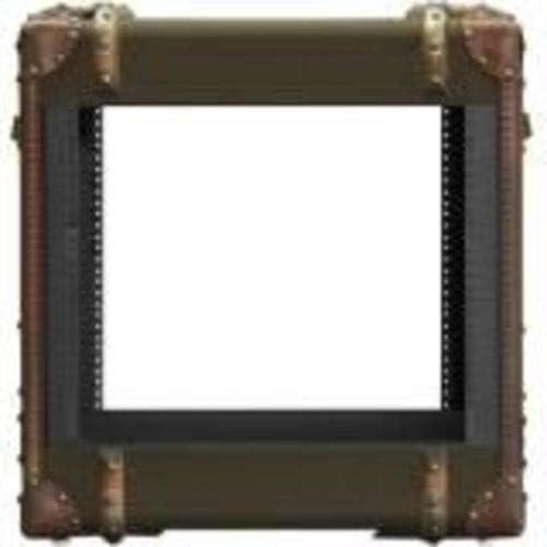 iStarUSA Accessory WRT-945 9U 450mm Depth Retro Style Rackmount Cabinet Black Brown Box
