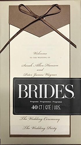 BRIDES 40 Count layered wedding programs