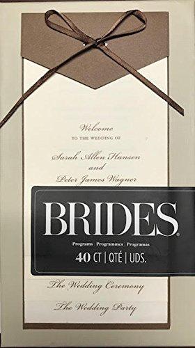 BRIDES 40 Count layered wedding programs