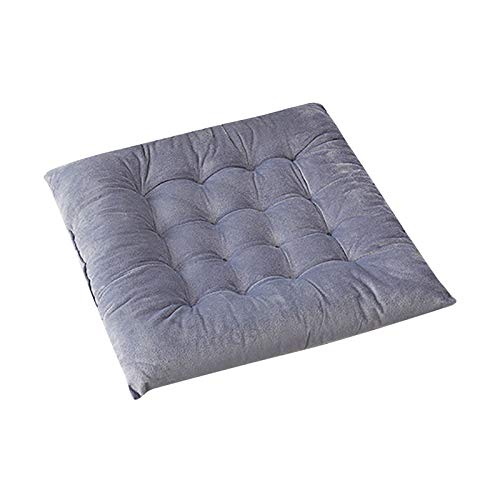 Crystal Velvet Square Thick Sofa Driving Seat Cushion Pillow Cotton Office Chair Pads 45X45cm, Pillow Case, for Christmas Day