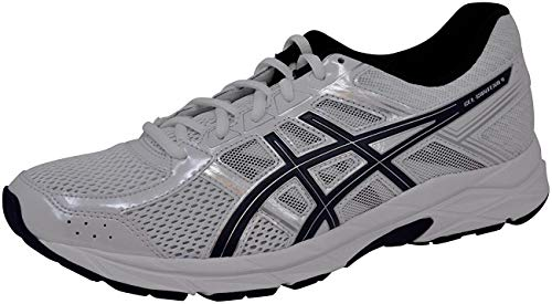 ASICS Mens Gel-Contend 4 Running Shoe, White/Blue/Silver, 10 D(M) US