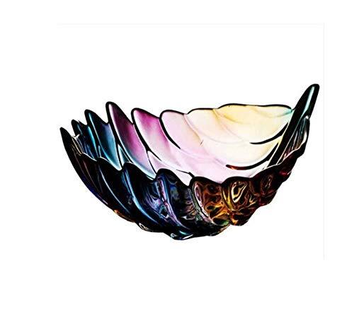 Cuenco de la cultura popular Plato de frutas, Pluma Creativo Europeo Moderno Vidrio Frutero Frutero Azucarero Fruta Plato Mesa de café Bandeja Plato de caramelo Plato de fruta seca, Grande cuenco de l