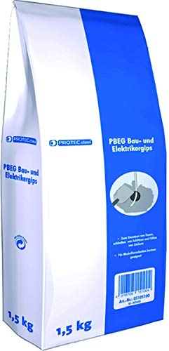 PROTEC 05105100 PROT Bau- und Elektrikergips PBEG 1.5 (MHD) 1,5kg