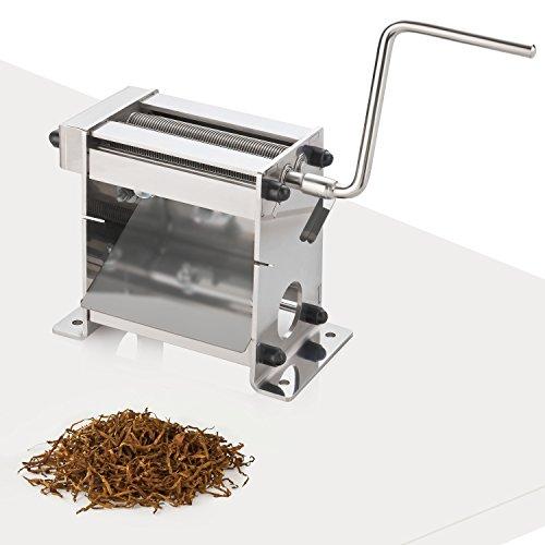 Eurotabak Tabakschneidemaschine TC-100 Plus mit Kugellager 0,8mm Tabakschneider Tabakblätter Tobacco