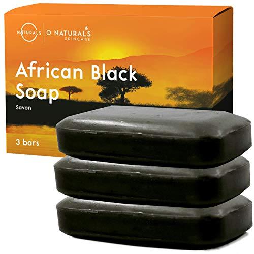 Afrikanische schwarze Seife African Black Soap gesamt 339g Natürliche Sheabutter Riegel Seife Feuchtigkeitsspendend Vegan Hand Körper Gesicht Seife Akne problematische Haut Männer Frauen