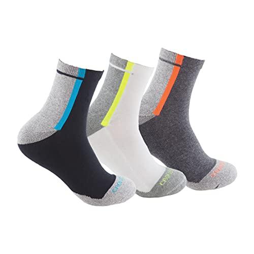 CRONOS ONE Calcetines DEPORTIVOS SIN COSTURAS (3 pares) para deportes como running, ciclismo, pádel; Calcetines de deporte de alto rendimiento para hombre o mujer cómodos y resistentes.