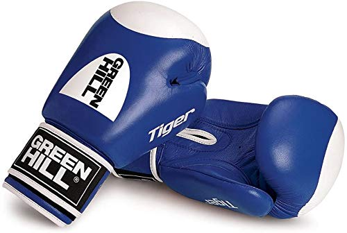Greenhill Boxing Gloves Tiger with Target (Blue, 12 OZ)