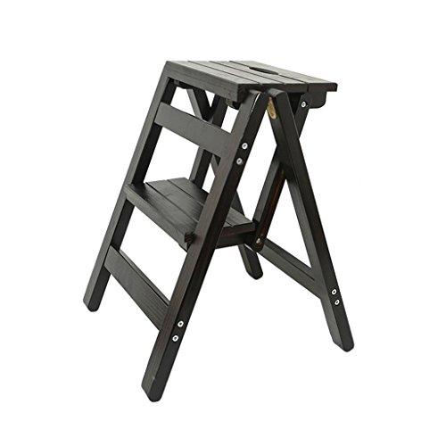 SH-Stoelen Solid Wood Ladder Stoel Multifunctionele Houten Ladder Stoel Opvouwbare Planken Ladder met 2 Stappen voor Home Decoratie en Bibliotheek