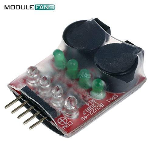 RC-Modell 2S 3S 4S erkennen Lipo-Batterie Low-Voltage-Alarm-Buzzer-Zelle Lipo-Akku-Dual-LautSprecher w/LED 7.4 V-14,8 V