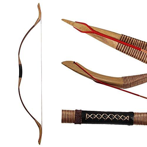 IRQ Mongolian Recurve Bow Traditional Handmade Longbow...