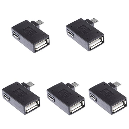 IPOTCH 5X USB a Hembra a Micro USB B Macho/Hembra Adaptador...