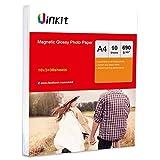 Papel fotográfico magnético A4 de alto brillo, 650 g/m², papel de inyección de tinta, para impresión por inyección de tinta, Uinkit 30sheets