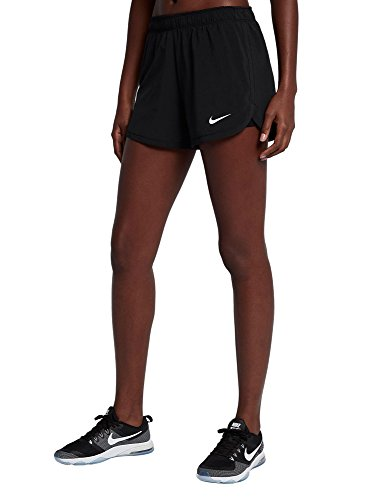 Nike Damen Flex 2in1 Trainingsshorts, Black/Black/White, L