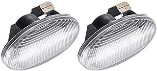 1 Coppia Specchi Indicatori di Direzione Laterali Specchietti Sinistra e Destra LED Chiaro Lenti per Mercedes W215 CL215 W220 1999-2003