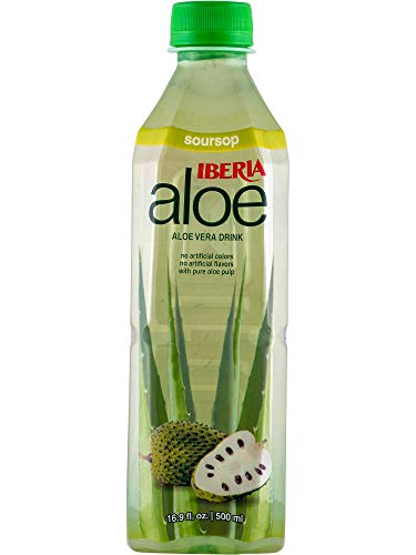 Iberia Aloe Vera Drink with Pulp, Original, 16.9 fl oz (Pack of 24)