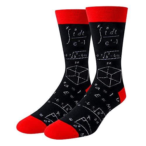 Men's Novelty Math Formula Crew Socks Casual Nerdy School Teacher Socks in...