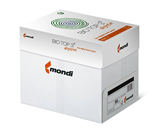 BioTop 3 Extra Kopierpapier 80g TCF von Mondi DIN A5-1000 Blatt BioTop3