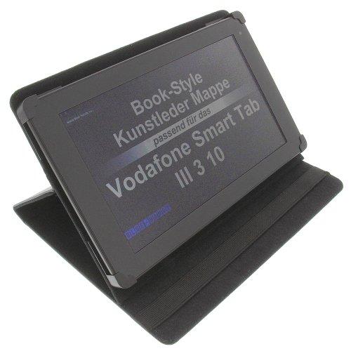 foto-kontor Tasche für Vodafone Smart Tab III 3 10 Tab Prime 7 BookStyle Tablettasche Schutz Hülle Schwarz