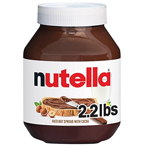 Nutella Chocolate Hazelnut Spread, Perfect Topping for Halloween Treats, 35.2 Oz Jar