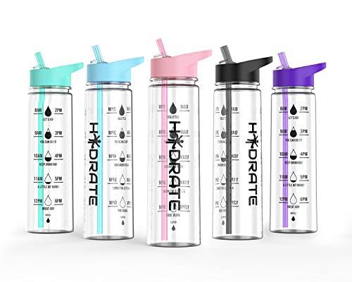 HYDRATE Motivational Bottle(Pink)