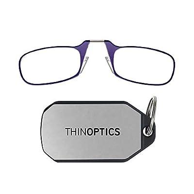 ThinOpticsReading Glasses + Keychain Case | Purple Frame, 2.00 Strength Readers from ThinOptics