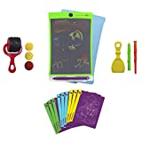 Boogie Board Magic Sketch Color LCD Writing Tablet + 4 Different Stylus and 9 Double-Sided Stencils for Drawing, Writing Tracing eWriter Ages 3+ (Magic Sketch Deluxe Kit)