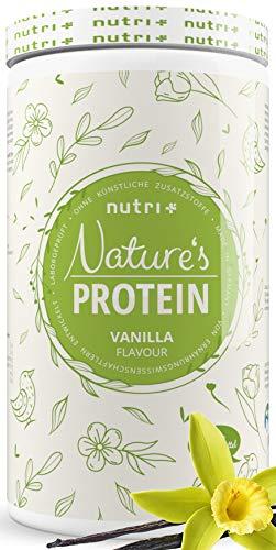 NATURES PROTEIN Vanille 500g - natürliches Proteinpulver ohne Süßungsmittel, Laktose, Zucker & Milch - 83,1{4cc0236aa5c16fe4565d3636ebd6f5147f6de88270e2e373efae65089ebefae1} Eiweiß - pflanzliches Eiweißpulver - Shake vegan & glutenfrei