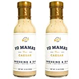 Gourmet Natural Classic Caesar Dressing and Dip by Yo Mama's Foods - Pack of (2) - Low Carb, Low Sodium, and Gluten-Free