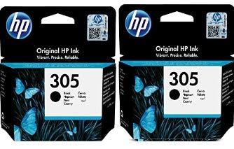 HP 305 schwarz Bipack Original kompatibel mit HP DeskJet 2710 2720 2721 2722 2723 2724 HP DeskJet Plus 4110 4120 4122 4130 HP Envy 6010 6020 6022 6030 6032 HP Envy Pro 6420 6422 6430 6432 Drucker