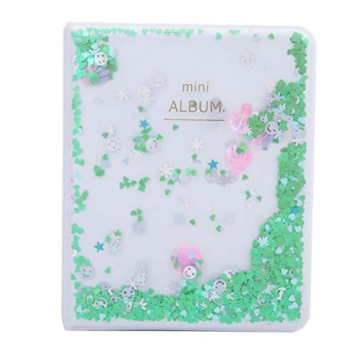 Plakboek, transparant mini-fotoalbum Plakboek-fotoalbum Klein lichaam met grote capaciteit voor Instax-camerafotos(green)