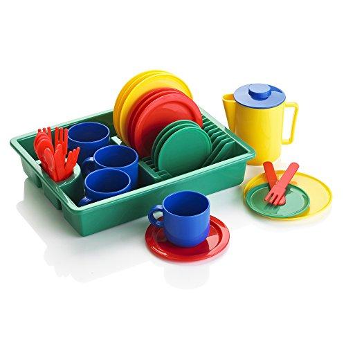 KiddyPlay - Juego de té y Platos de Juguete - 29 Piezas