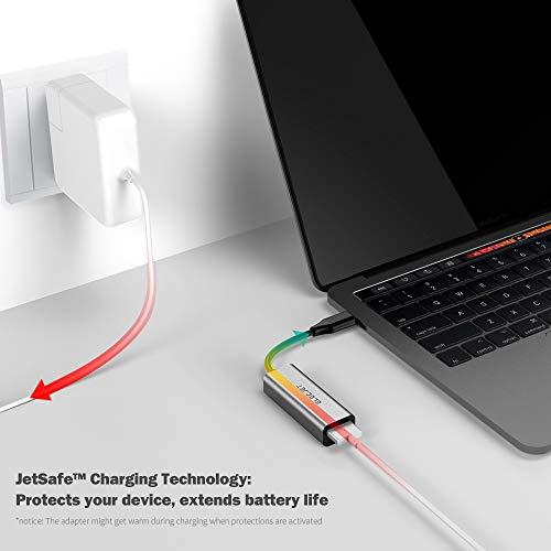 ELECJET, USB C MagSafe Adapter, Typ C auf MagSafe 1 & 5 Konverter, kompatibel mit MacBook Pro/Air und den meisten USB C Laptops und Geräten Grau grau