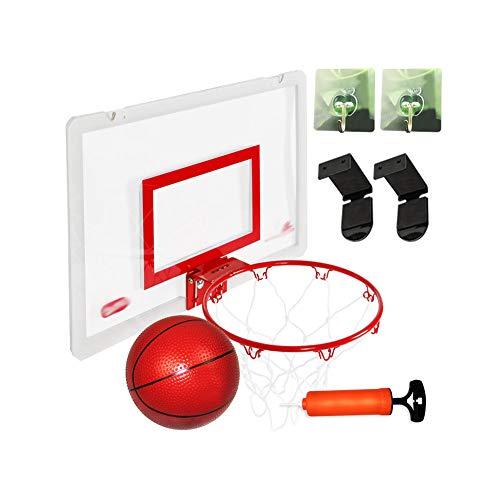 Canasta De Básquetbol para Niños, Caja De Jugadas De Básquetbol De Perforación Gratis En Interiores Y Exteriores,Red
