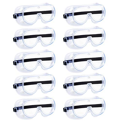 Anti-fog Protective Safety Goggles,Safety Glasses,For Industrial,Family Work (white5)
